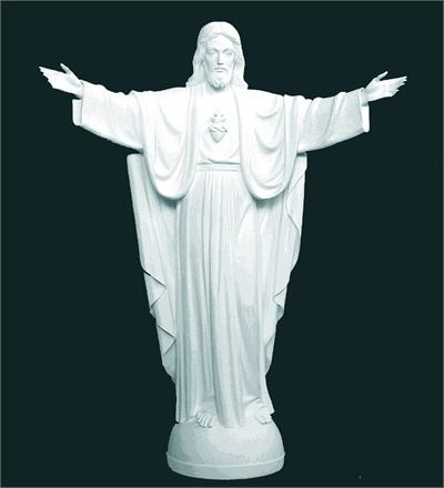 Life Size Sacred Heart of Jesus Statue - Marble