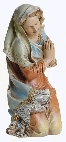 Kneeling Mary Statue with Arms in Prayer