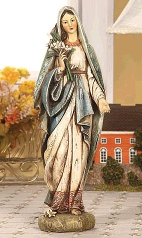 Mary Statue with Lily