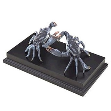 Blue Crabs on Wooden Base