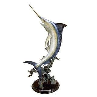 Magnificent Blue Marlin Sculpture