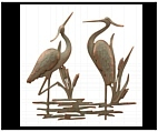Large Heron Wall Plaque