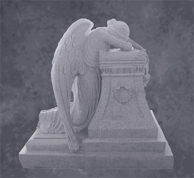 Weeping Angel Sculpture For Monument Or As Memorial