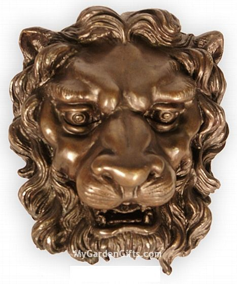 Lion Head Fountain Spout Pond Sculpture II