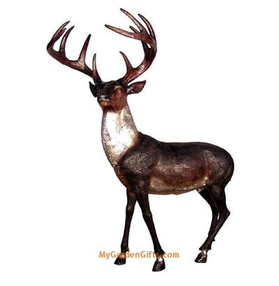 Life Size White-Tailed Deer Sculpture