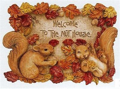 Mischief Makers Squirrel Welcome Plaque