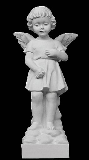 Demure Angel Sculpture - 19""