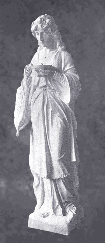 Saint Lucia of Syracuse in Marble