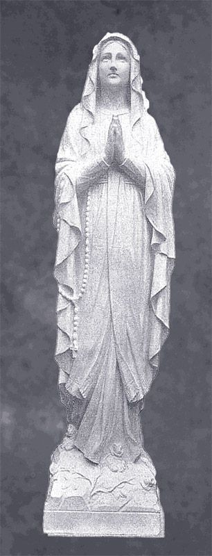 Our Lady of Lourdes in Prayer Sculpture