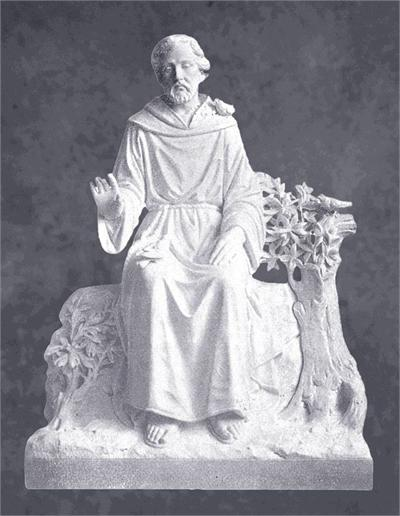 Blessing from Saint Francis in Marble