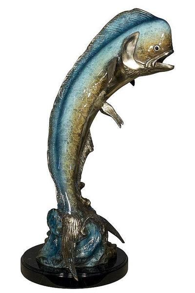 Graceful Mahi-mahi Sculpture