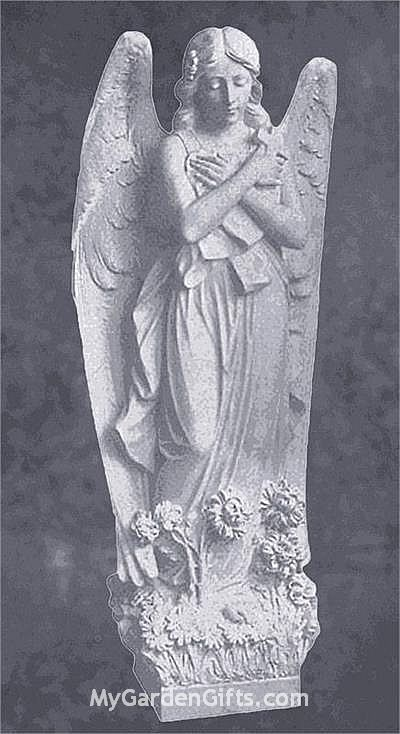 Angel with Cross in Marble