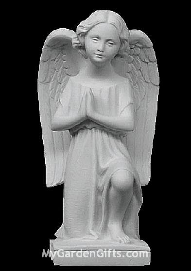 Little Kneeling Angel Girl