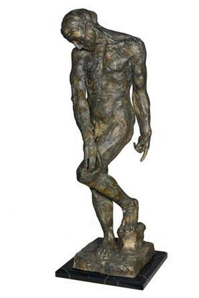 Adam By Auguste Rodin Bronze Sculpture
