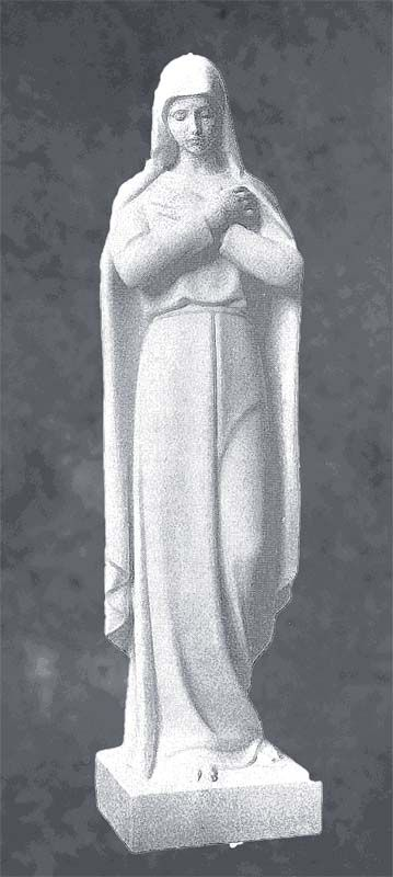 Our Lady Of The Seven Sorrows In Marble Sculpture