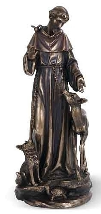 Saint Francis with Deer and Wolf