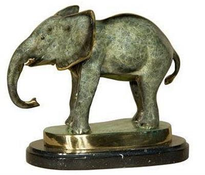 Shy Baby Elephant Sculpture