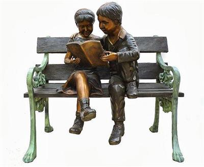 Love to Read Together Children Sculpture