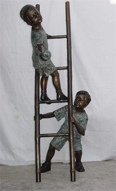 Two Brothers Making a Team Life Size Sculpture
