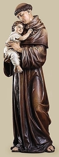 "37"" Saint Anthony with Child Statue"