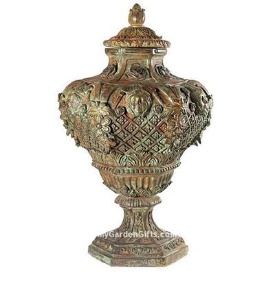 Bronze Medina Planter and Finial with Lid