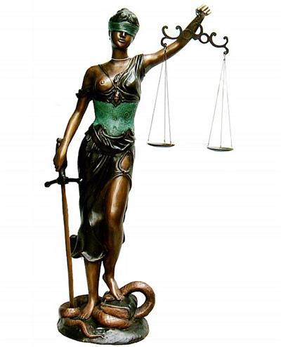 "67""H Blind Justice Statue"