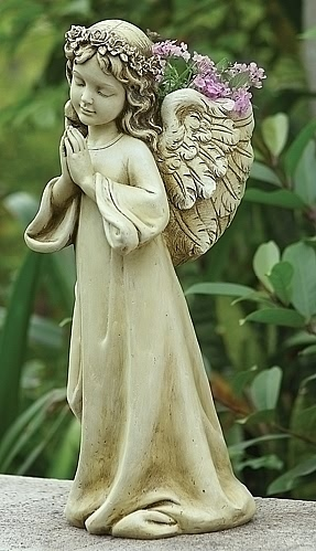 Praying Angel Girl Planter