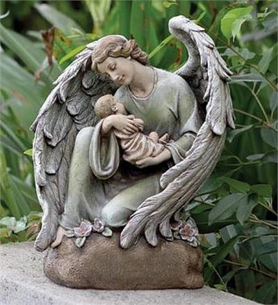 Baby's Guardian Angel Statue