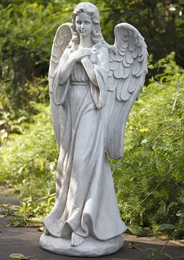 Glorious Angel with Hands Clasped