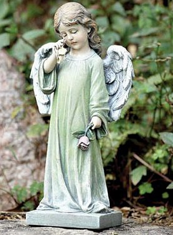 Angel with Rose Statue