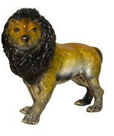 Standing Lion Tabletop Sculpture