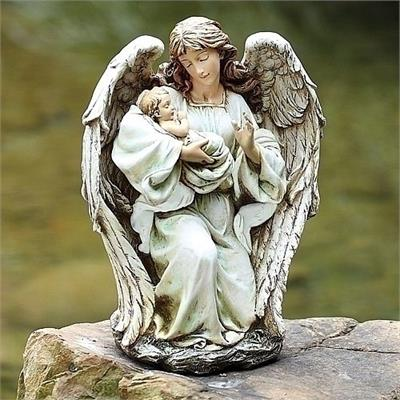 Guardian Angel with Baby in Hands