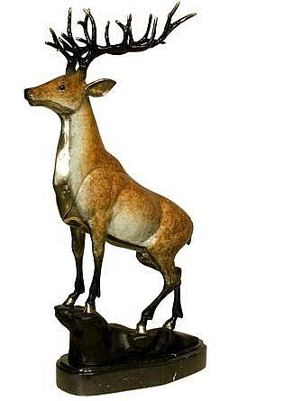 Proud Male Deer Sculpture