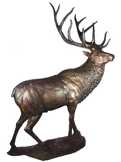 Large Reindeer on Base Sculpture