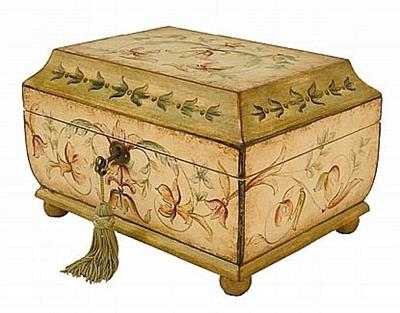 Old English Floral Box