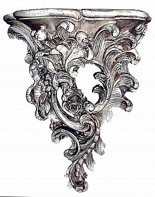 Large Victorian Floral Wall Bracket
