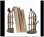 Birds Out of a Cage Bookends