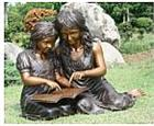 Reading with Mom is Fun Bronze Statue