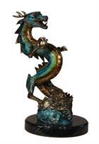 Chinese Dragon Sculpture on Marble Base
