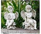 Cherub with Garden Friends - Pair