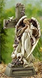 Angel by the Cross Figurine