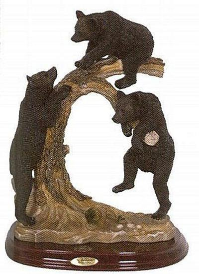 Bears on a Branch Sculpture