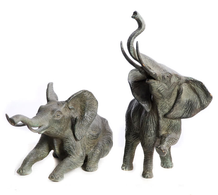 Playful Elephants Sculptures