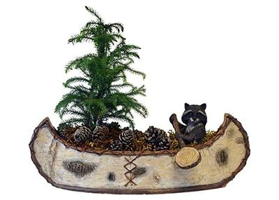 Raccoon Planter and Sculpture