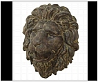Large Lion Face Plaque