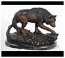 Bronze and Resin Wolf Statues, Sculptures and Figurines