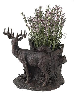 Deer Sculpture and Vase