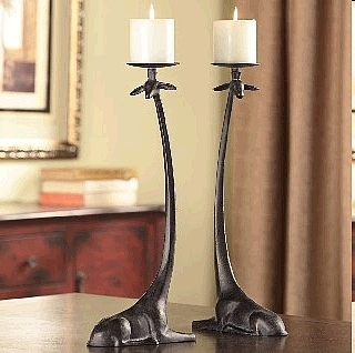 Long Necked Giraffe Candle Holders