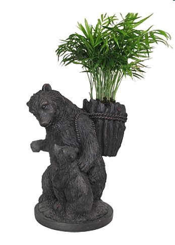 Papa and Sonny Bear Planter