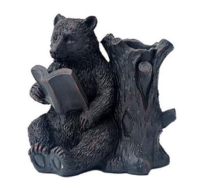 Reading Bear Pencil Holder